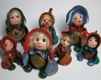 Model Your Own Podkin Elf Tutorial Class by Artist Ann Galvin Gnome Sculpt Sculpture