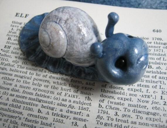 SALE Constance Leaf Dweller Snail Defender of the Realm OOAK Sculpt Ann Galvin