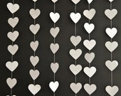 White Love Heart Garland, Love Heart Decoration