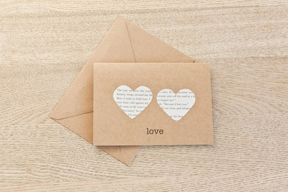 Wedding or Anniversary Card -  Paper Hearts Design