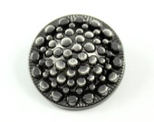 Metal Buttons - Optical Fiber Style Metal Shank Buttons , Shiny Gunmetal Color , 0.79 inch , 4 pcs