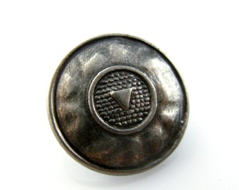 Metal Buttons - Play Symbol Metal Buttons , Nickel Silver Color , Shank , 0.71 inch , 10 pcs