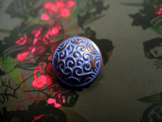 Metal Buttons - Cirrus Metal Buttons , Violet Copper Color , Domed , Shank , .0.59 inch , 10 pcs