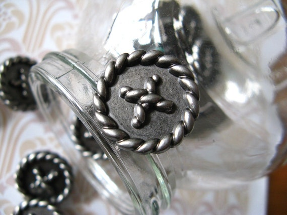 Metal Buttons - Sewing Design Metal Buttons , Shank , 0.79 inch , 10 pcs