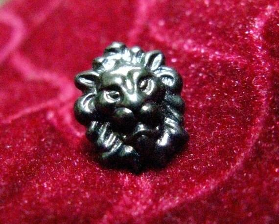 Metal Buttons - Lion Metal Buttons , Gunmetal Color , Shank , 0.47 inch , 10 pcs