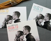Color Pop Save the Date- customize with your photo and colors, FREE shipping