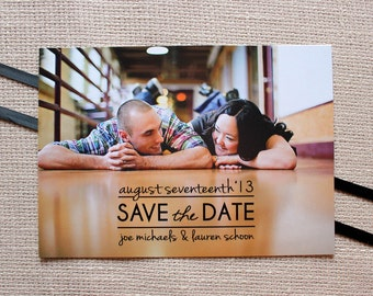 Sleek Lines Save the Date- 50 save the dates and envelopes, FREE shipping- click to view more colors