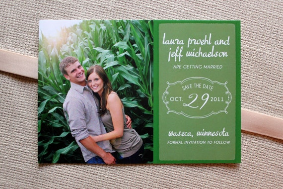 Outdoor Scene Save the Date- 50 save the dates and envelopes, FREE shipping- click to view more colors