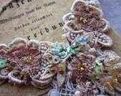 Antique Rose Lace Necklace