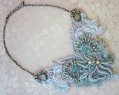 Aqua Lace Necklace