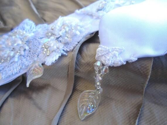 Embroidered bridal sash
