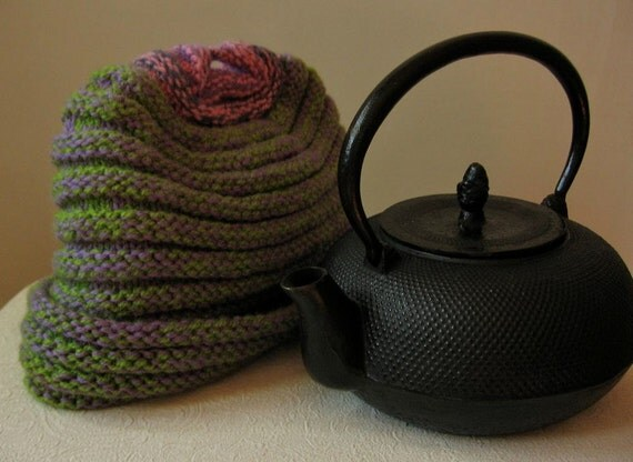 Knitting Patterns For Beginners Tea Cosy : Ribbed Tea Cozy / Beginners Knitting Pattern / DIY