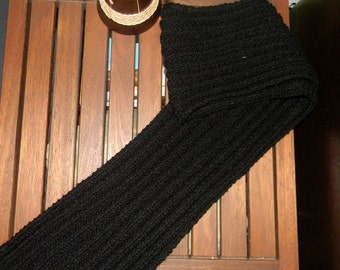 Black handknitted   scarf for men