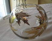 Vintage gold leaf design rose vase--SOLD