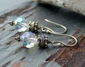 Swarovski Crystal Earrings with Sterling Silver and Bali Bead