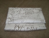 FRENCH SCRIPT Vintage Documents cotton duck fabric