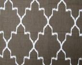 MONACO COFFEE designer, drapery/bedding/upholstery ikat fabric