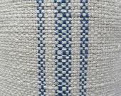 FRENCH LAUNDRY Parisian Stripe Blue railroaded woven fabric