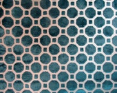 Custom order 3 1/2 yards Raised Velvet TURQUOISE designer fabric