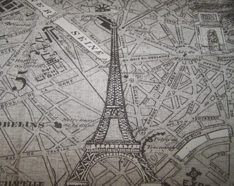 Parisienne pewter on linen color field multipurpose fabric