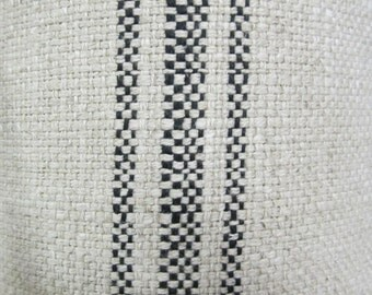 FRENCH LAUNDRY Parisian Stripe  Black railroaded fabric