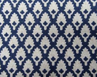 CALAIS INDIGO  designer fabric, curtain/bedding/multipurpose