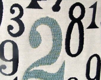 NUMBERS Jacquard fabric