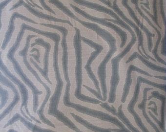 ZEBRA ikat in Spa on white multipurpose fabric