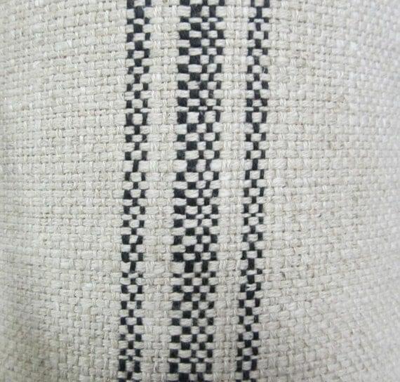 FRENCH LAUNDRY Parisian Stripe  Black railroaded fabric
