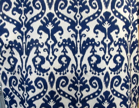 MARRAKESH BATIC Indigo Blue designer, drapery/bedding/upholstery ikat fabric