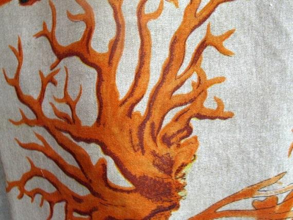 ORANGE CORAL by Design Legacy screenprint fabric