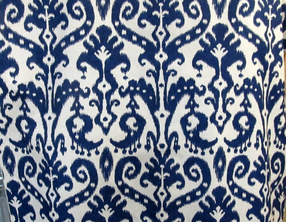 Marrakesh Batic Indigo Blue Designer Drapery Bedding