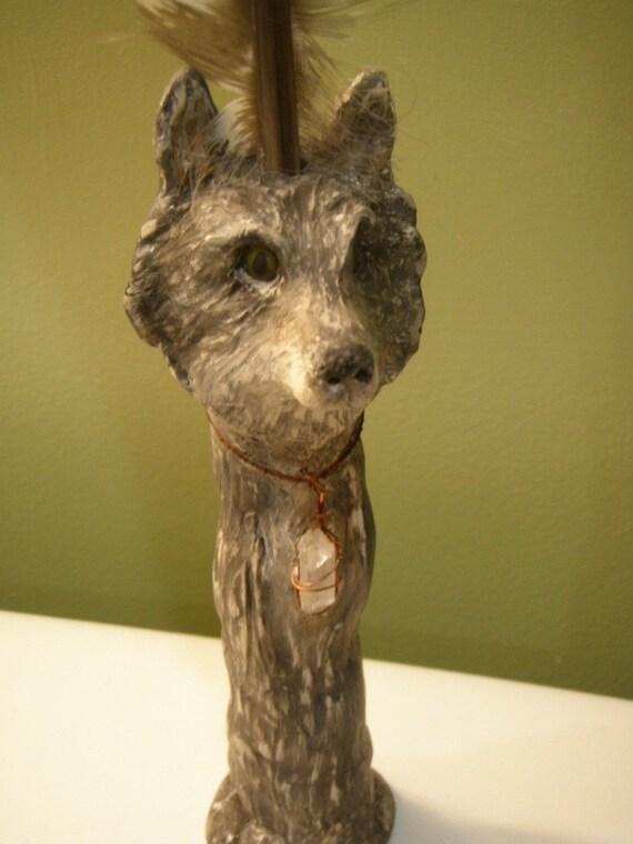 Shamanic Wolf Animal Totem Wand