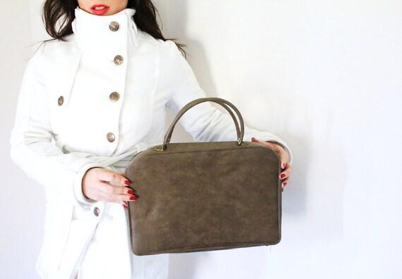 Brown Briefcase - Vintage 1970s Bag, Jolin / Business Bag