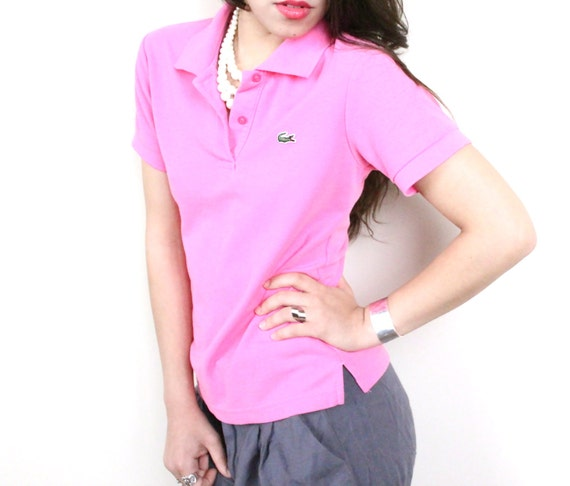 Vintage Pink Lacoste Collared Polo Shirt / Medium