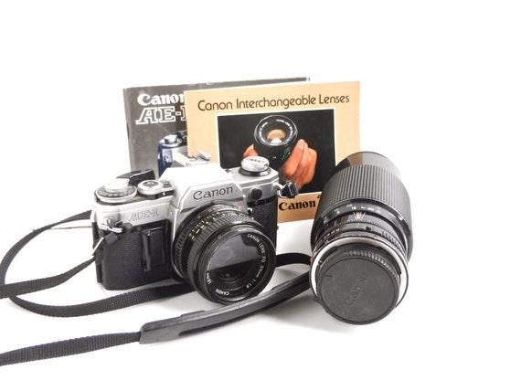 Vintage Canon  AE-1 Film Camera - 1970s 50mm Lens & 70-210 mm Lens