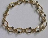 Vintage Gold Vermeil Sapphire Bracelet (VD103)