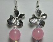 Handcrafted Pink Chalcedony Earrings in Sterling Silver (E382)