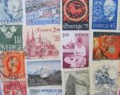 Stockholm Syndrome 50 Vintage Worldwide Sweden Postage Stamps Swedish Philately Scandinavian Pride Sverige Gothenburg