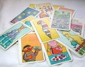 Vintage Sesame Street Counting Cards