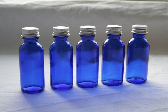 Cobalt Blue Bottles Set of 5