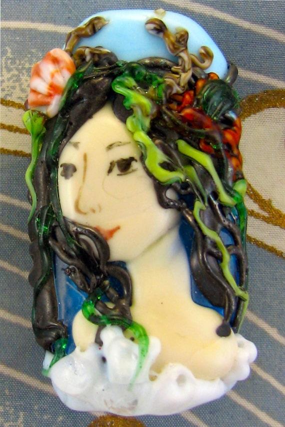 Lampwork  Mermaid Bead - Oceane