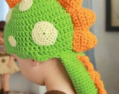 Child's Crocheted Dragon Hat