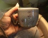 Pottery Mug  Cup FRESH BREAKFAST   7KIDSMUDHOLE POTTERY