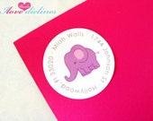 ON SALE - Personalized Baby elephant Return Address Labels