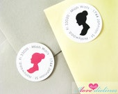 ON SALE - Personalized Vintage Lady Return Address Labels