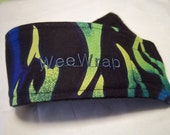 Dog Diaper, Stop Marking, WeeWrap Belly Band, Size XXS, XS, or SMALL, Blue Flames, Personalized