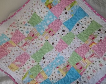 Tumbler Quilt Pattern Tutorial  with Photos, Instant Download pdf