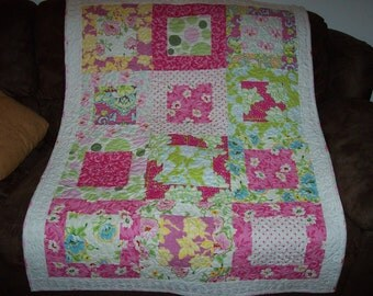 Quilt Shop, Quilting Pattern, pdf file with step by step photos, Large Framed Block Style