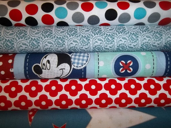Mickey Rag Quilt Kit,  Personalized, Fun Fabrics, Easy to Make,